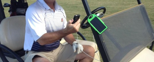 Solar Charging on the golf course
